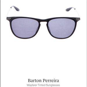 NWOT Barton Perreira Black Wayfarers w/case➕cloth